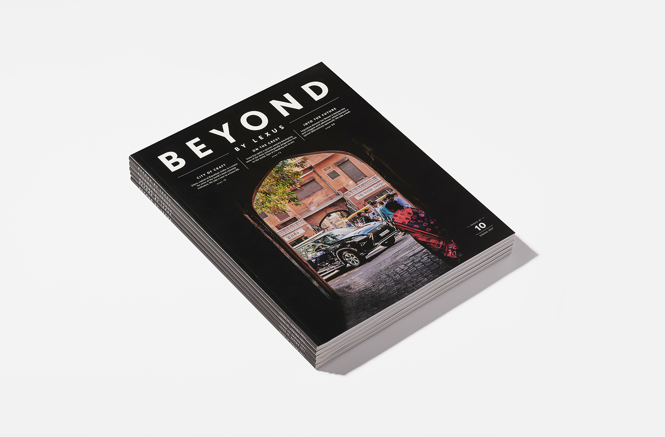 Editorial design and art direction for Beyond by Lexus magazine. Agency — Winkreative (2017)