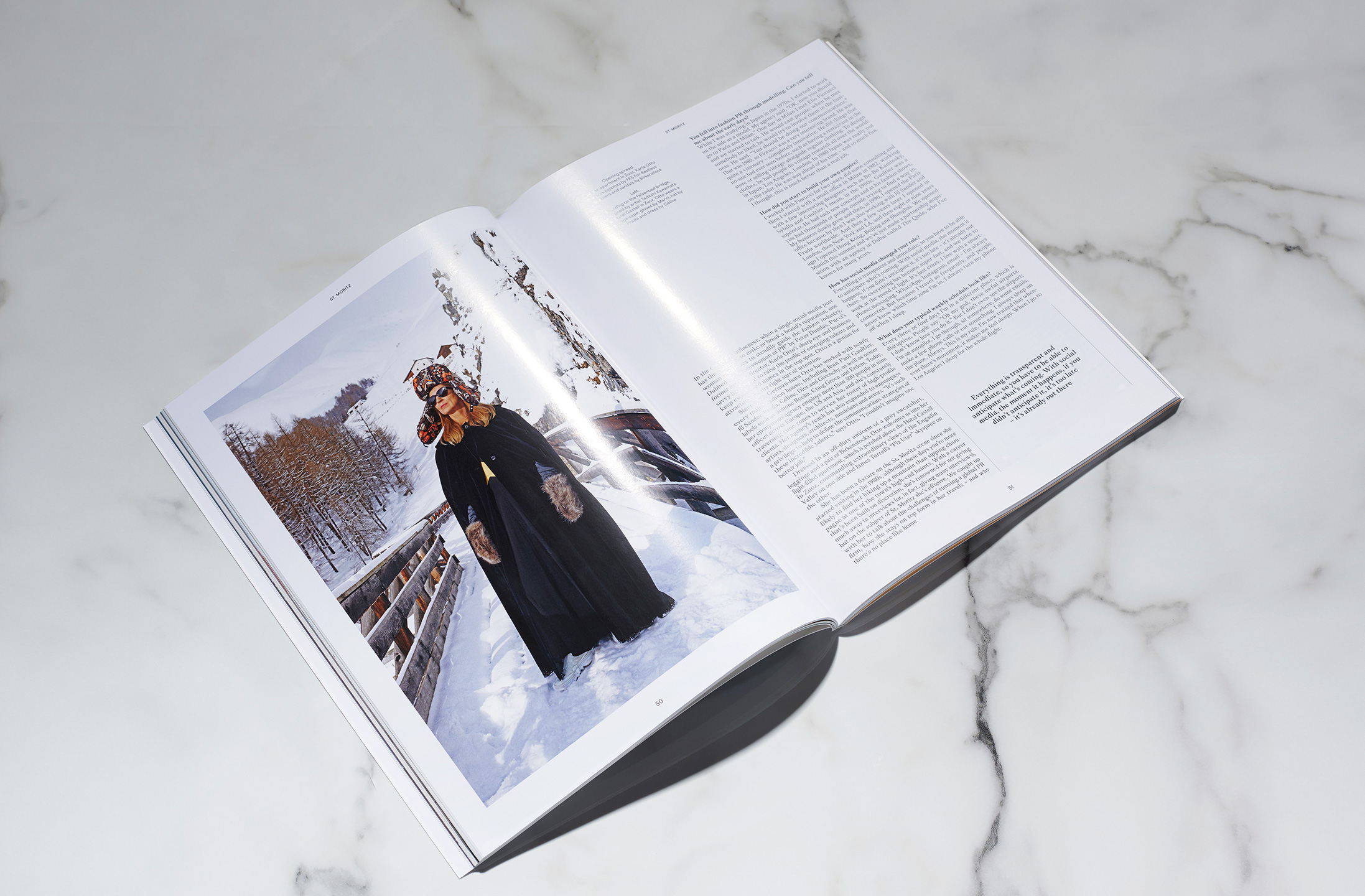 Identity, editorial design and art direction for St. Moritz Magazine, (2019)