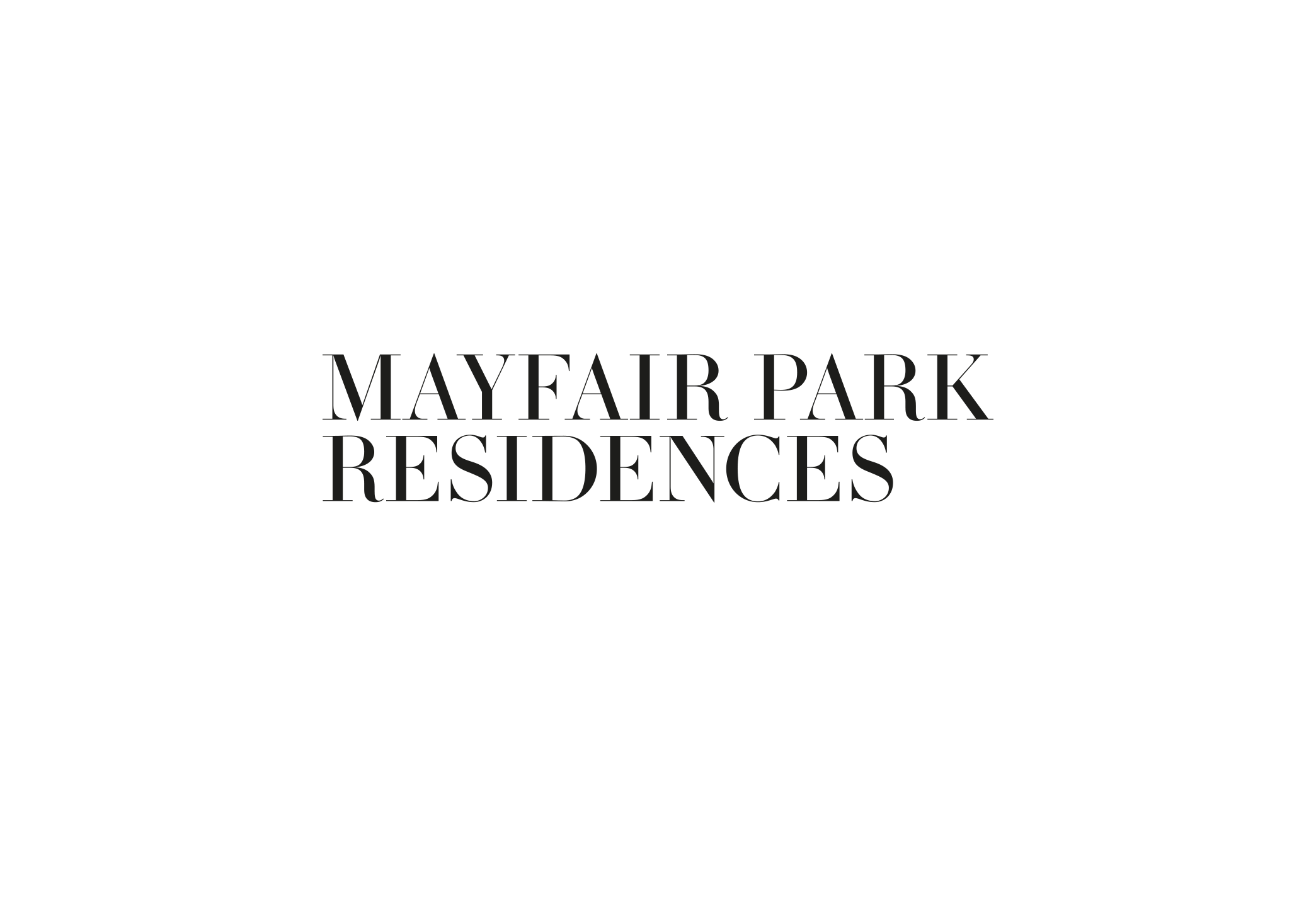 Identity and brand book for Mayfair Park Residences