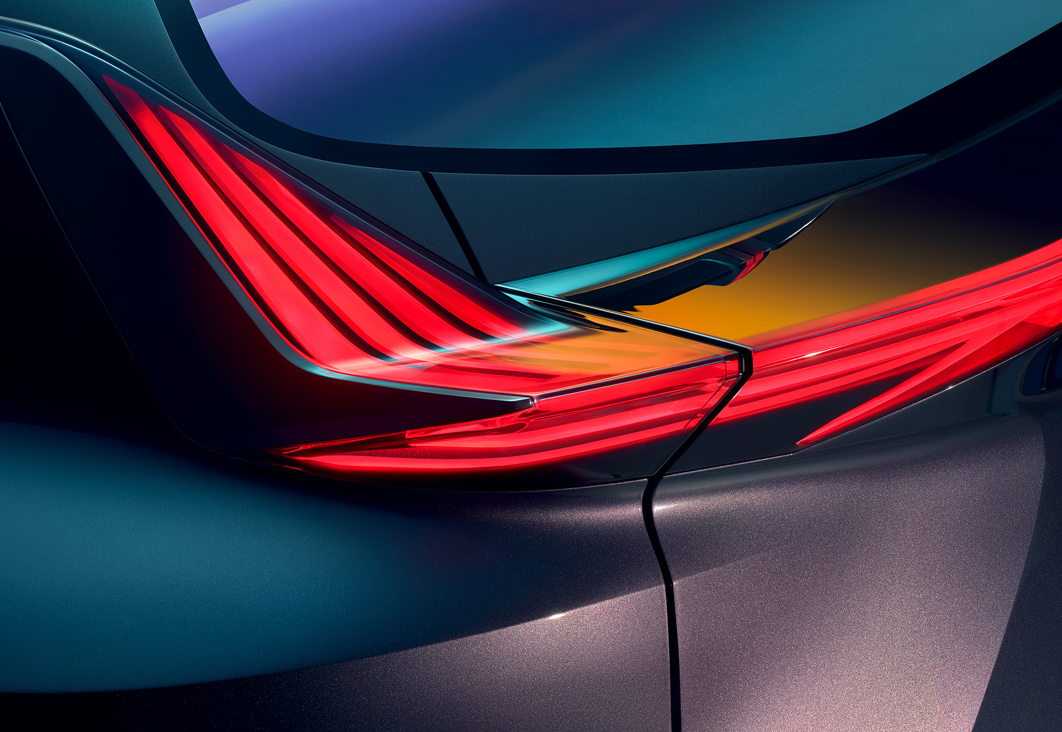 Art direction for Lexus 'UX' concept car. Photography by Qiu Yang (2018)