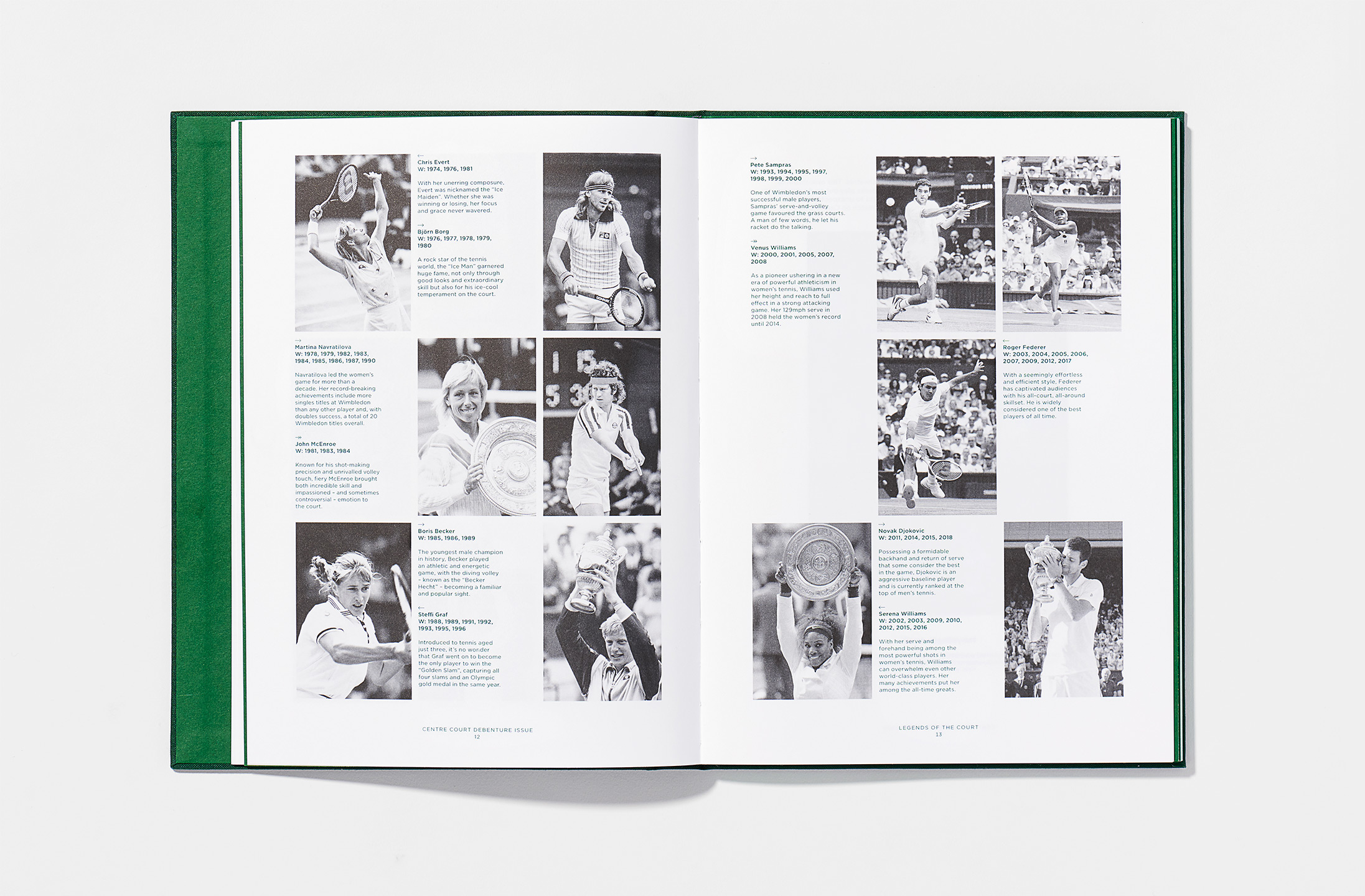 Art direction and book design for Wimbledon Centre Court, (2019)